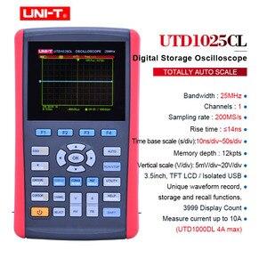 """Image 2 - UNI T UTD1025CL راسم الذبذبات الرقمية المحمولة 3.5 """"LCD شاشة ديجيتال راسم الذبذبات مقياس السيارات بالكامل مع المتعدد"""