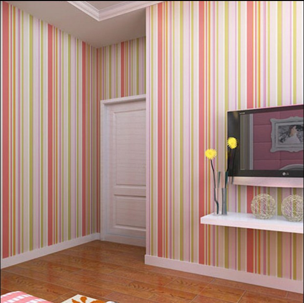 2016 new hot selling contemporary pure color non-woven wallpaper Cartoon children vertical stripes Sweet bedroom Mediterranean contemporary and contracted non woven wallpaper vertical stripes boy born children room bedroom wall stickers blue mediterranean