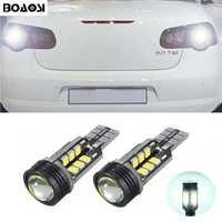 BOAOSI 2x Canbus no error backup reverse light lamp T15 W16W LED 2835 Chip For VW Tiguan Sharan Scirocco passat b7 Seat