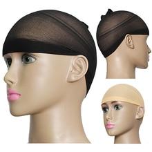 2017 2Pcs Unisex Stocking Wig Liner Cap Nylon Stretch Breathable Mesh