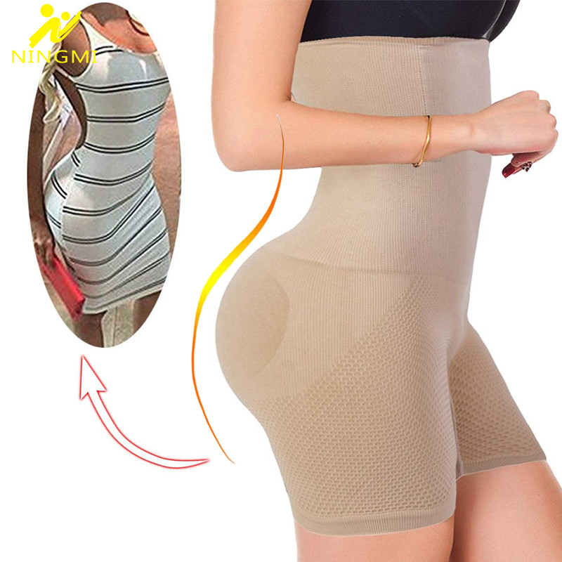 NINGMI seksi popo kaldırıcı kadın zayıflama Shapewear karın kontrol külot yüksek bel eğitmen vücut şekillendirici Boyshort geçirmez güç kısa