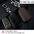 Genuine Leather CAR KEY CASE For CADILLAC XT 5 ATS CT6 XTS SRX Escalade CTS Use Automobile Special-purpose CAR KEY HOLDER
