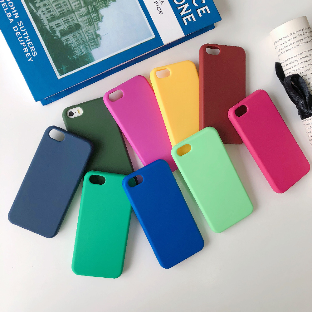 Candy Color Matte TPU Phone Cover For Iphone 5 Case Luxury Soft Silicone Iphone SE Iphone 5S Cases