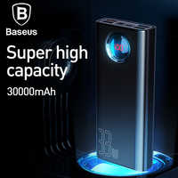 Baseus 30000mAh Power Bank QC 3.0+ PD Fast Charger 33W Powerbank Charger For iPhone Portable External Battery Charger Poverbank