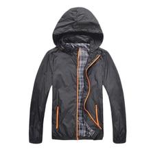 NEW Man Waterproof Jackets Spring Autumn Men Sportswear Fitness Windbreaker Zipper Sport Coats