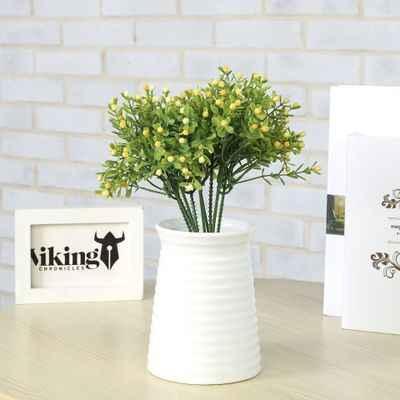 1 PC Buatan Tanaman Hijau Rumput dengan Berry Dekorasi Bunga Karangan Bunga Pernikahan Dekorasi Pesta Pernikahan Rumah Dekorasi