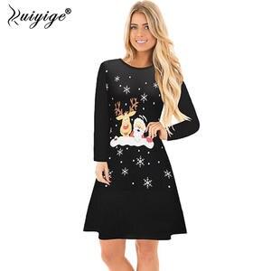 21a8a86f61172 Ruiyige 2018 Women Long Sleeve Mini Dresses Casual Party