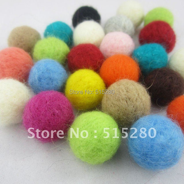 200pcs Mulit-Colors 20mm Round Shape Felt Ball For Christmas Jewelry Festival Party Decoration Hand-made