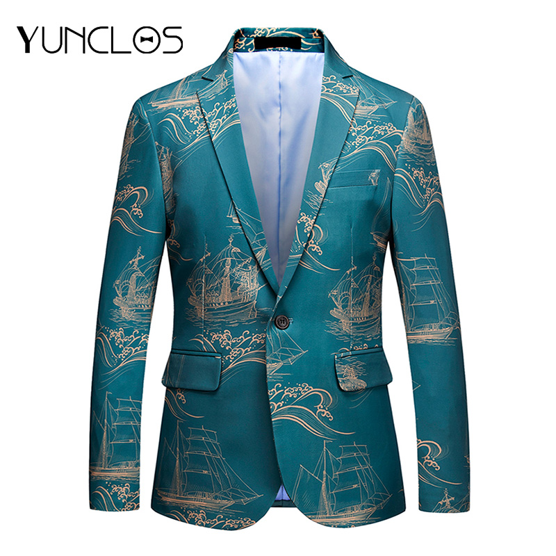 YUNCLOS Chinese Style Suit Jacket For Men Wedding Slim Blazers Classic Casual Men's Suit Blazers Jackets  Blazer Masculin