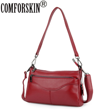 цены COMFORSKIN Genuine Leather Luxurious Handbags Women Messenger Bags New Arrivals Ladies Cross-body Bag Brand Famous Shoulder Bags
