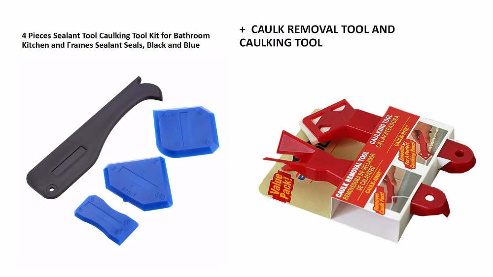 Free Shipping Popular 4pcs Silicone Sealant Finishing Tool And 2-Piece Caulking Tool Kits,Caulking Smoother And Remover