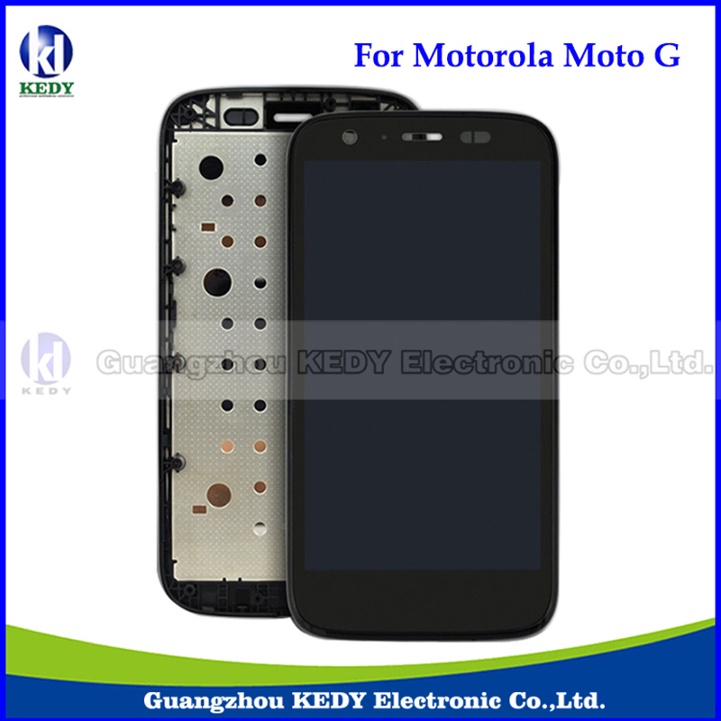 10pcs New Original LCD Display with Digitizer Touch Screen Assembly for Motorola MOTO G XT1032 XT1033 LCD with Frame Assembly new original lcd replacements for motorola moto g xt1032 xt1033 lcd display touch digitizer screen with frame assembly tools