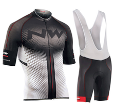 NW jersey 2018 NORTHWAVE Summer Men Cycling Jersey Short Sleeve Set Breathable bib shorts Bicycle Clothes 9D Gel Pad Clothing veobike men women country series short sleeve jersey gel padded bib shorts breathable sport suit bike bicycle cycling jersey set