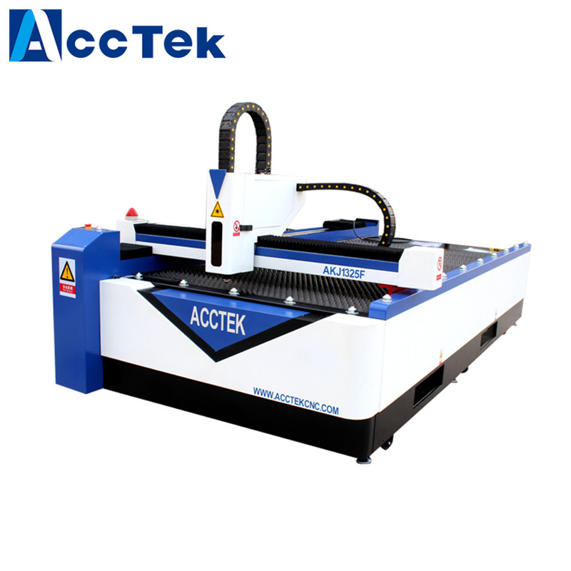 Jinan AccTek Hot Selling 1325 CNC Metal Plates 500W Fiber Laser Cutting Machine For Sale