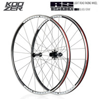 KOOZER RS1500 Road Bike 700C Wheelset Front 2 Rear 4 Bearing 72 Ring 21MM Rim 2:1 Spoke Wheels