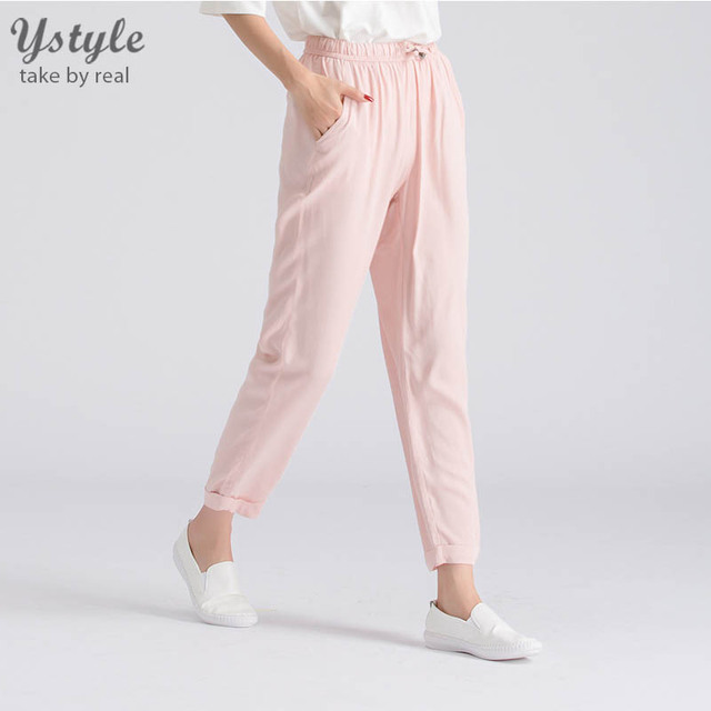 Women New Tied Waist Casual Pencil Pants Plus Big Size Clothing Female Casual 16 Colors Harem Pants Leggings Spring Autumn PA18
