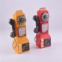 Креативная Бытовая антикварная установка резервуара для депозита машина синтетические поделки из резины старый телефон Декор