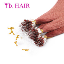 #35 Micro Loops Ring Hair Extensions new arrival Wholesale 100% Virgin Brazilian human hair Fusion Keratin Human Hair on sale