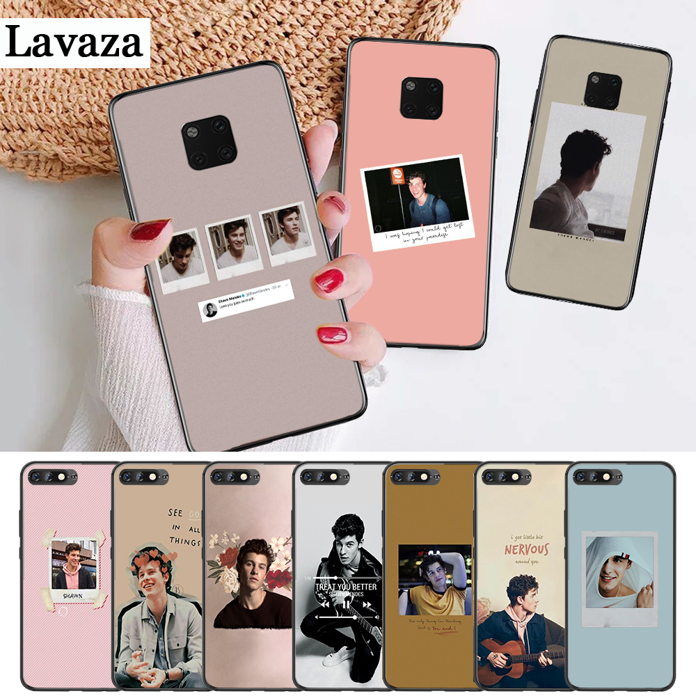 Lavaza Shawn Mendes Novelty Fundas Silicone Case For Huawei Mate 10 Pro 20 Lite Nova 2i 3 3i 4 Y5 2017 Y6 2018 Y7 Prime Y9 Lustrous Surface Fitted Cases