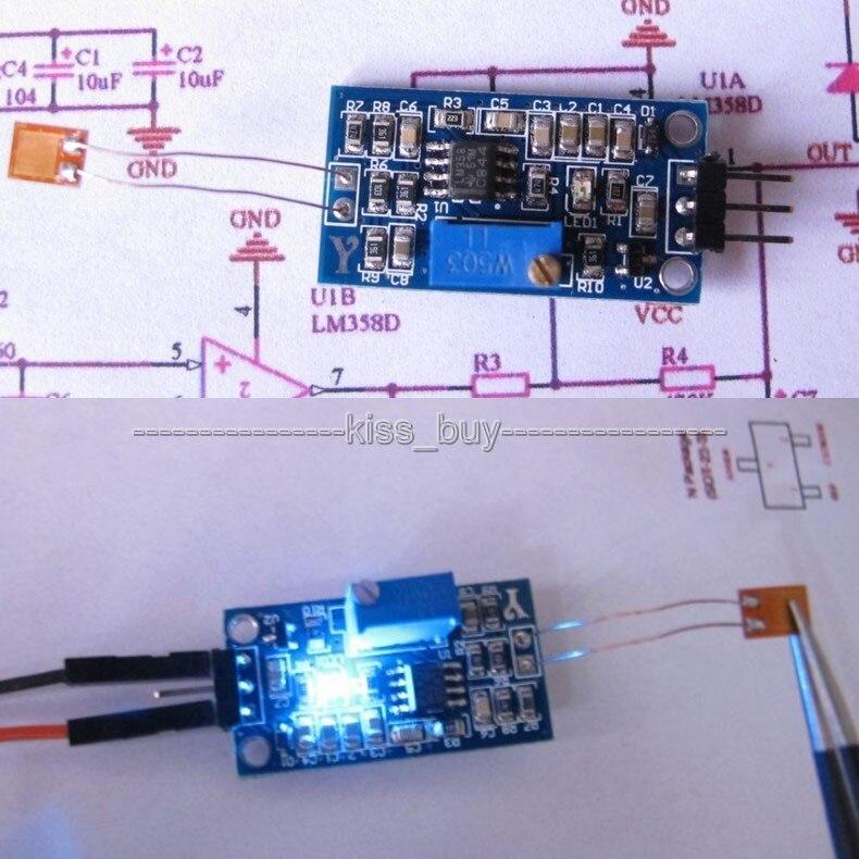 Strain gauge bending detection test sensor module weigh amplifier voltage/'output