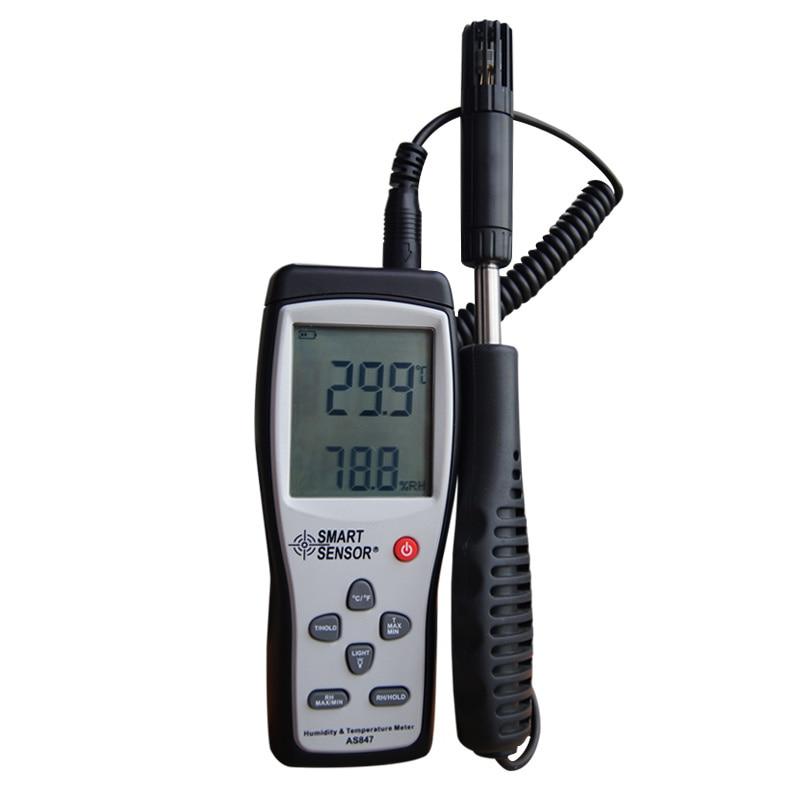 ФОТО Smart sensor AS847 split digital hygrometer humidity meter 2 in 1 K Type Thermocouple humidity gauge temperature humidity sensor