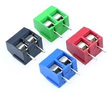 цена на 100Pcs/lot KF301-5.0-2P Pitch 5.0mm Straight Pin 2P Screw PCB Terminal Block Connector
