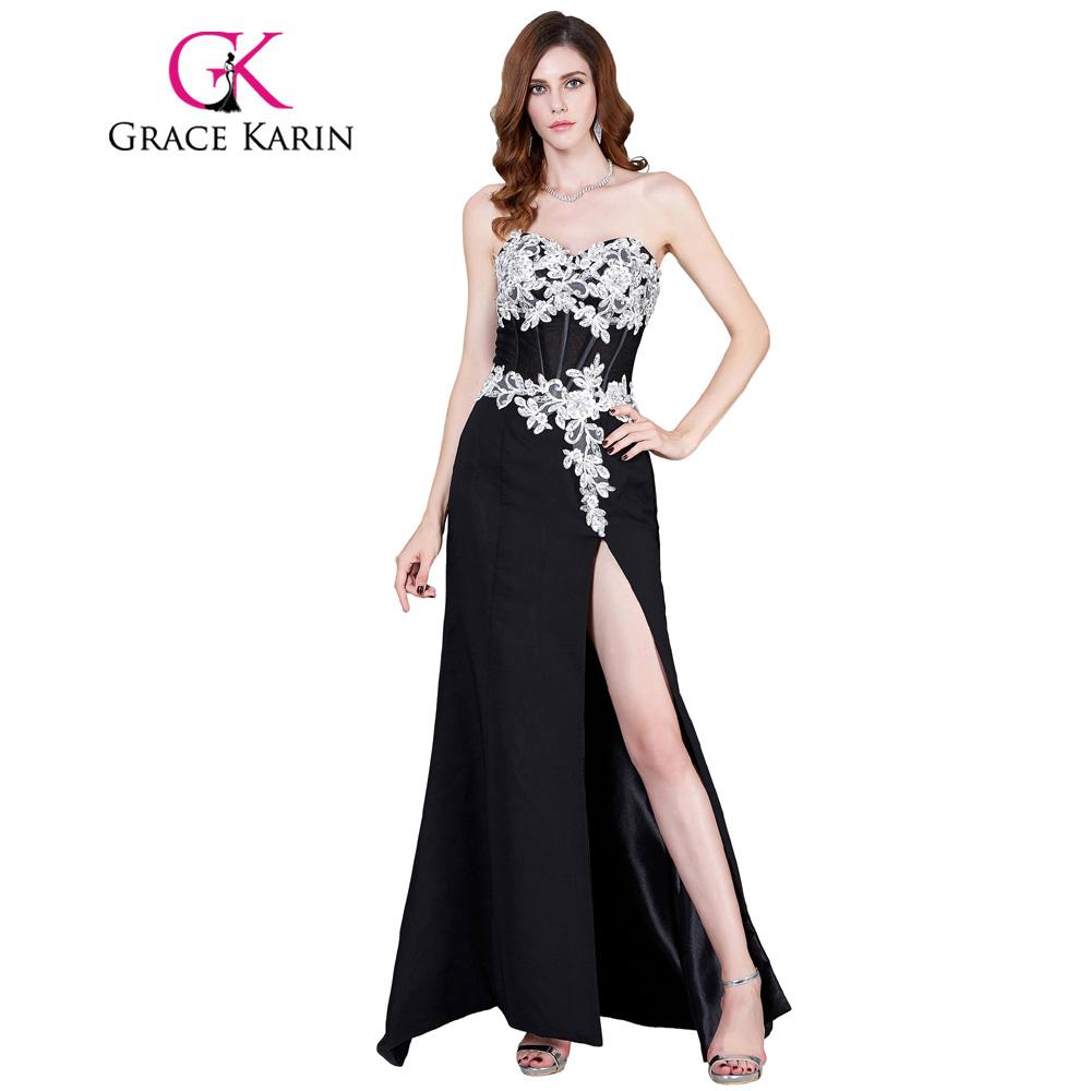 Online Get Cheap Applique Black and White Evening Gown -Aliexpress ...