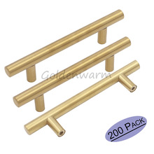 200Pieces Wholesale Golden Cabinet Handles Diameter 12mm Round Bar door handles Cupblard Pull Knob