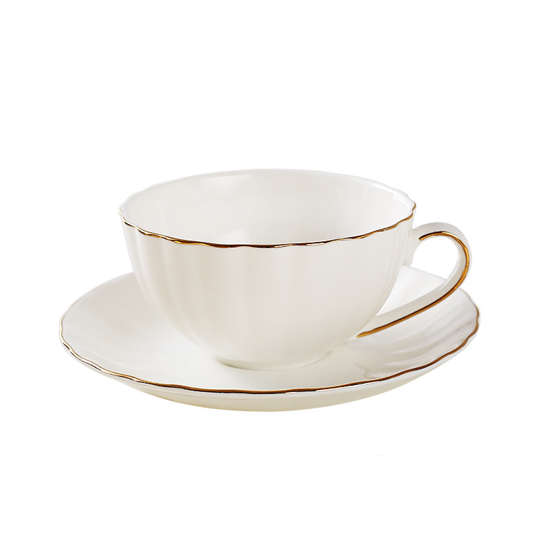 High quality White bone china coffee mug set inclue spoon dish,Afternoon TeaCup black Tea Cup coffee cup,Advanced Porcelain Mug