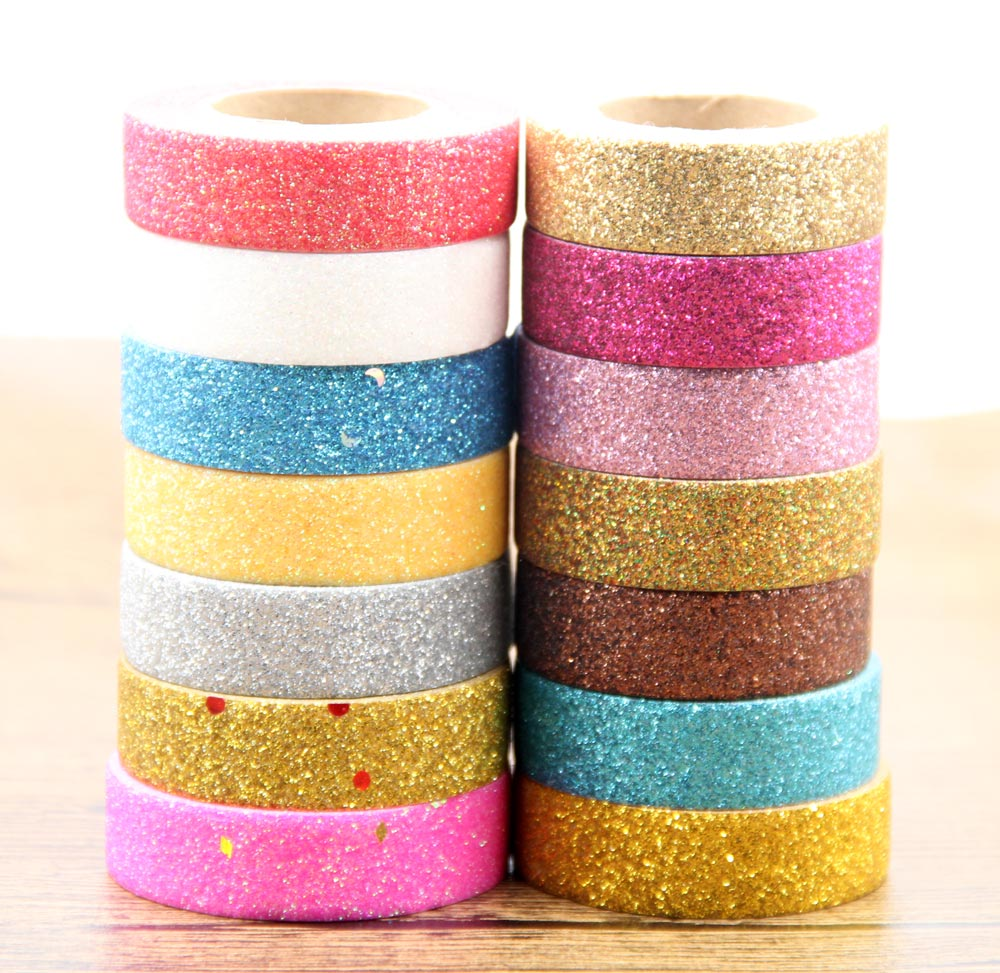 mix 7pcs different glitter washi tape set japanese stationery scrapbooking christmas decorative. Black Bedroom Furniture Sets. Home Design Ideas