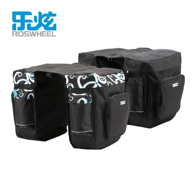 ROSWHEEL 30L Rear Rack Trunk Bike Luggage Back Seat Pannier Two Double font b Bags b