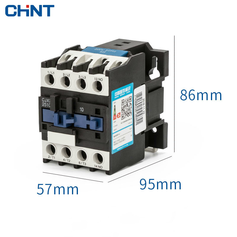 CHINT Communication Contactor Cjx2 2510 25a Single phase 220V Three phase 380V 24V 110V in Contactors from Home Improvement