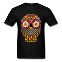 The Crazy Owl Print Tops T-Shirt Custom 3D Digital Printing Casual T-Shirts For Student Wholesale Plain Pure Cotton Tee Shirts