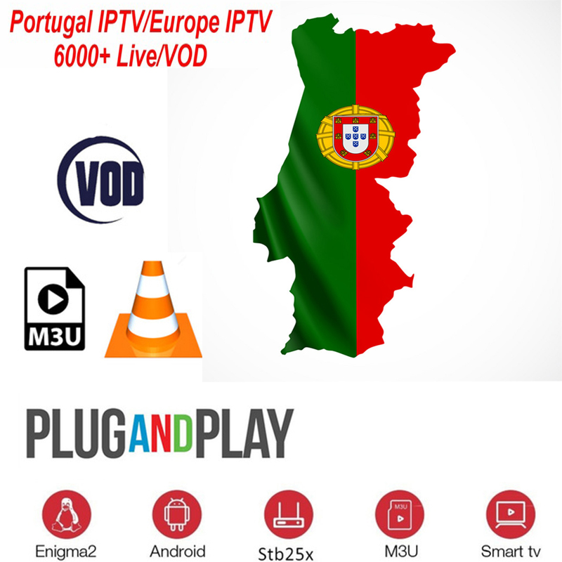 Iptv Portugal Subscription 6000+Live 2000+vod For Android TV Box Smart Tv Enigma2 Free Test Support Eleven Sports