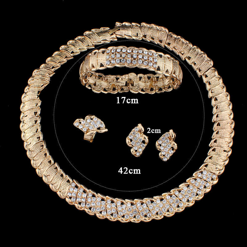 Jiayijiaduo Afrikanische Hochzeit Schmuck Dubai Gold Farbe Schmuck Sets Romantische Farbe Design Schmuck Sets Halskette Drop Verschiffen