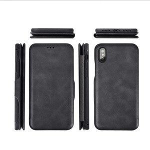 Image 5 - Pu capa carteira de couro para iphone 6s 7 8 plus, com porta cartões suporte e dinheiro de bolso capa de silicone macio para xr xs xmax