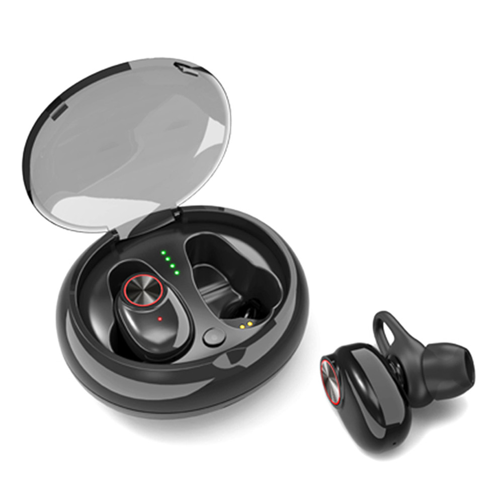 Excelvan Bluetooth 5.0 <font><b>V5</b></font> <font><b>TWS</b></font> True Wireless Earbuds Mini In-ear Dual Earphone with Mic and Charging Dock image