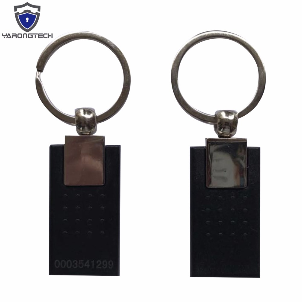 125khz RFID Access Key Fob Black Color Metal New Style (pack Of 5)