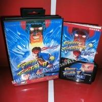 Street fighter 2 plus cartucho de Jogo com Caixa e Manual de 16 bits cartão MD para Sega Mega Drive para Genesis