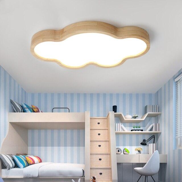 Log Japanische LED Deckenleuchten kinderzimmer wolken dünne holz ...