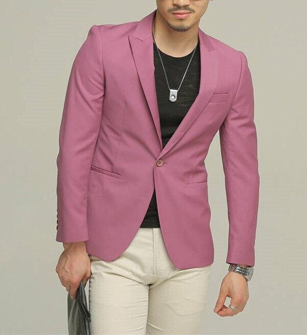 원 버튼 남성 슬림 피트 핏 신랑 패션 웨딩 드레스 스테이지 catwalk 2 pieces custom (jacket + pants)-에서정장부터 남성 의류 의  그룹 1