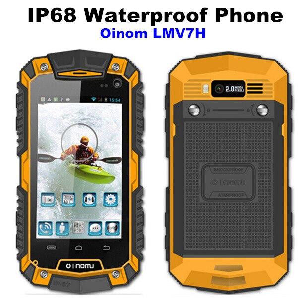 bilder für Original neue v7 oinom lmv7 ip67 robusten wasserdichten telefon mtk6572 dual core android gorilla glas 3g gps 3600 mah 2mp stoßfest