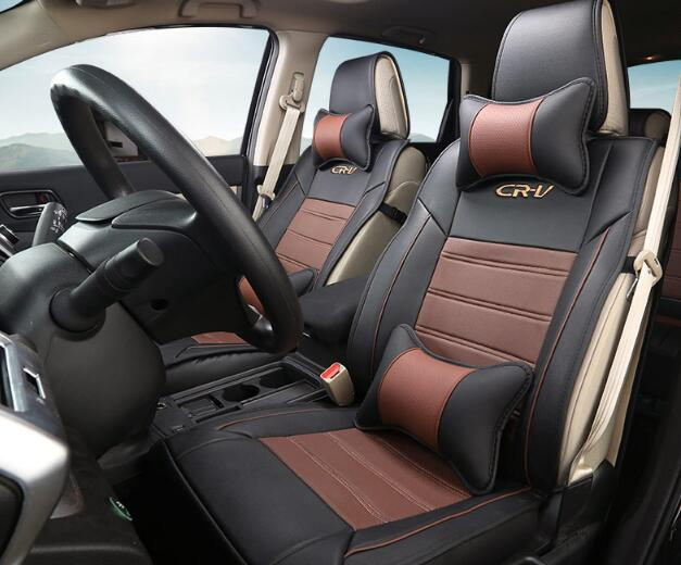Brown Car Seat Covers Set Interior Covers Car Styling Cushion Protector Car Accessories For Honda CRV 2012 2013 2014 2015 back seat covers leather car seat cover for bmw e30 e34 e36 e39 e46 e60 e90 f10 f30 x3 x5 x6 car accessories car styling