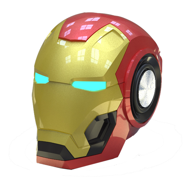 Mobile phone Speakers Bluetooth V4 2 Iron Man Bluetooth Speaker Subwoofer With FM Radio Support TF
