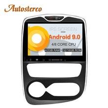 Autostereo Android 9 автомобиль без DVD плеер gps навигация для Renault Clio 2013-2018 радио рекордер мультимедийное головное устройство ips экран
