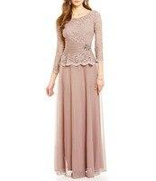 Элегантное длинное шифоновое вечернее платье уникальный дизайн топы корректирующие мать невесты платья для женщин
