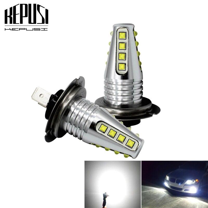 2X H7 80W cree chip High Power Car LED Light Fog Auto Car Motor Truck Canbus