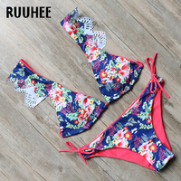 RUUHEE Swimwear Bikini Women Swimsuit Push Up Bathing Suit 2017 Bikini Set Shoulder Off Beachwear Maillot