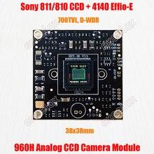 """650TVL 700TVL 1/3 """"873 872 811 CCD Effio e 4140 DSP 960H CVBS אנלוגי CCTV מצלמה מודול לוח w/OSD בקרת כוח וידאו כבל"""