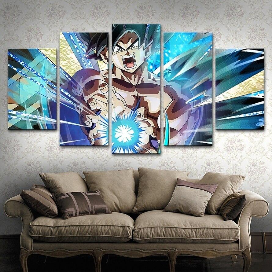 Anime Dragon Ball Goku Canvas Painting Artwork HD Pictures Animation Wall Art for Living Room Decor 1